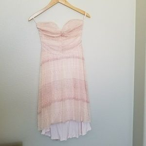 Free people strapless shear dress